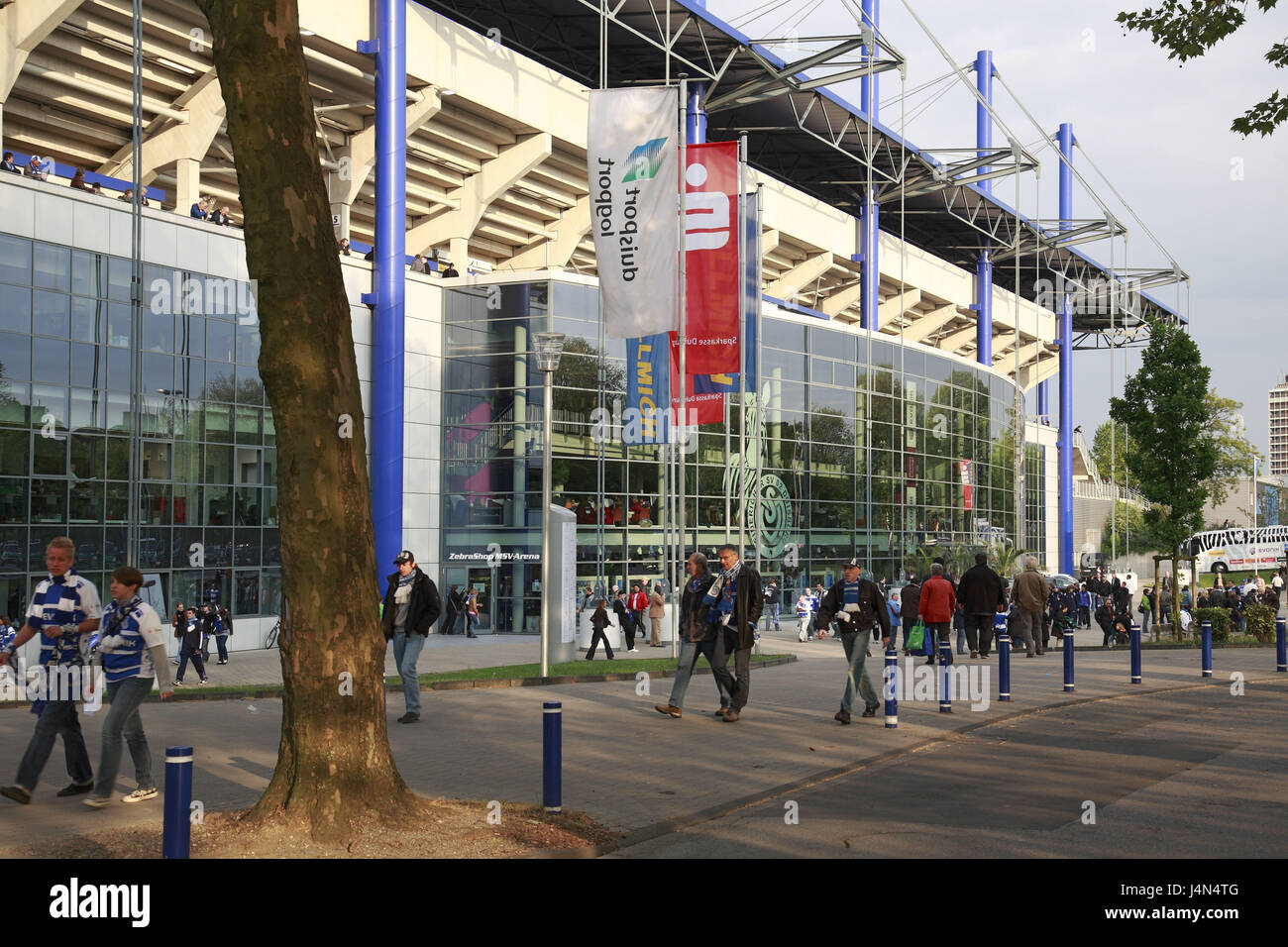 Germany, Duisburg, MSV arena, passer-by, - Stock Image