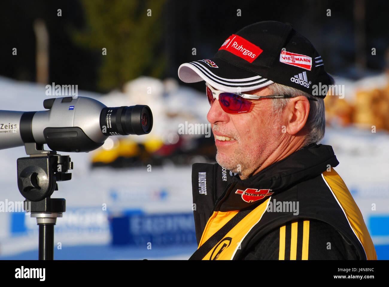 Austria, Tyrol, Pillerseetal, to high-level felts, biathlon, coach Uwe Müssiggang, page portrait, DSV, biathlon, - Stock Image