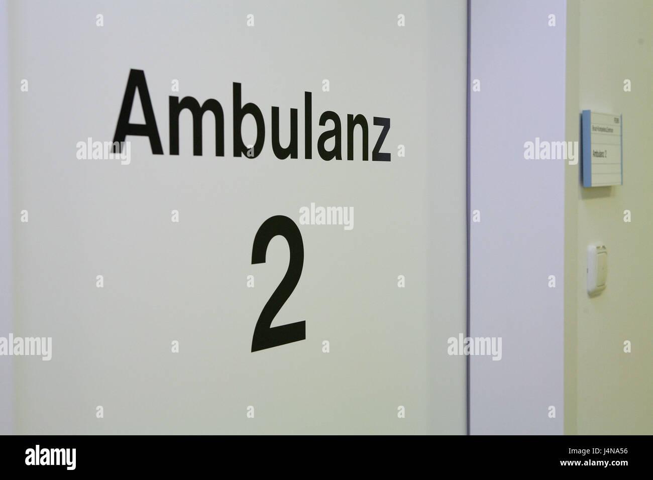 Door, stroke outpatients 2, - Stock Image
