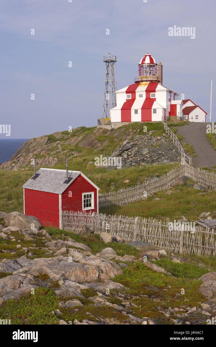 Canada, Newfoundland, cape Bonavista, lighthouse, in 1843, - Stock Image