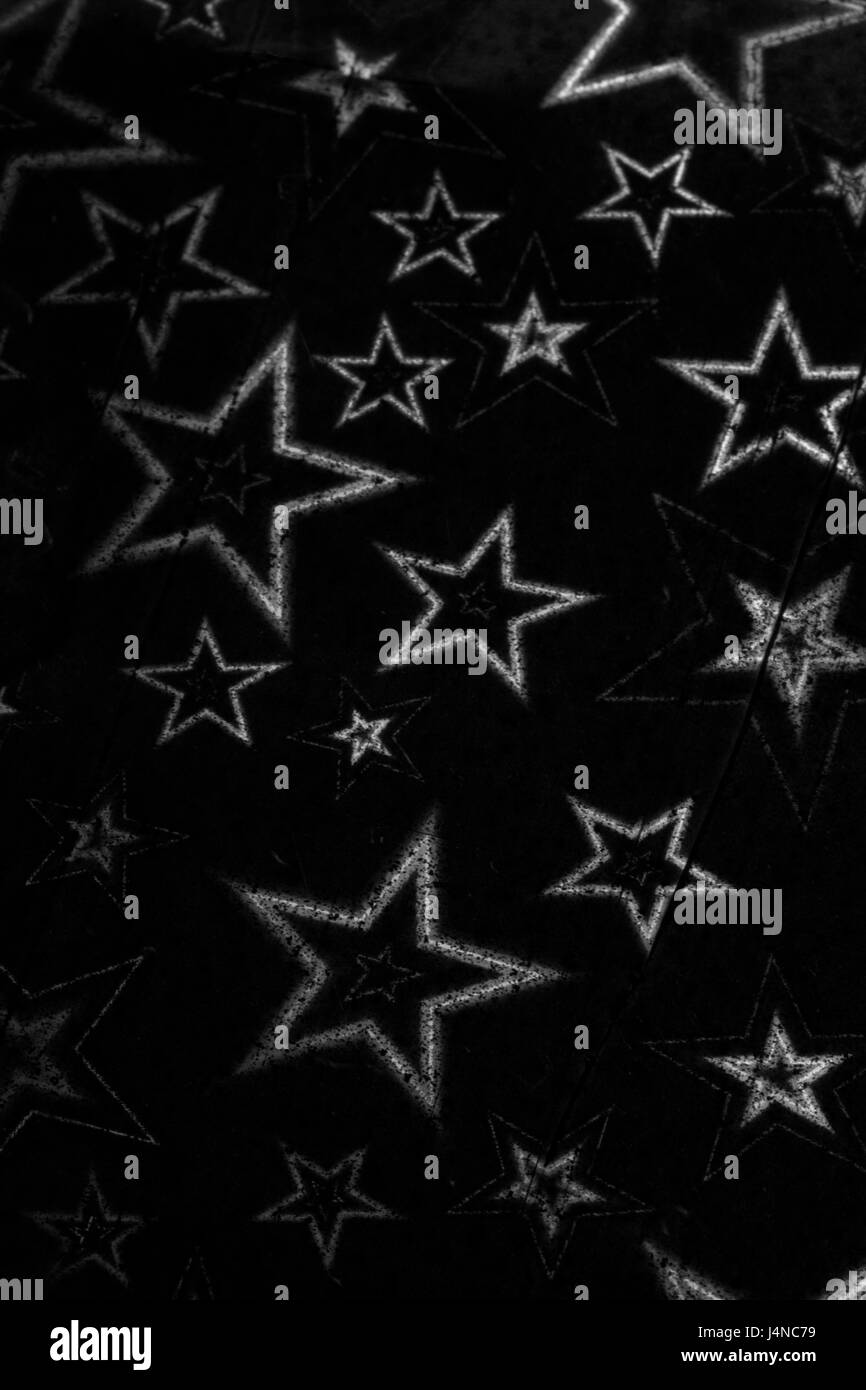 Holographic Stars On Black Background