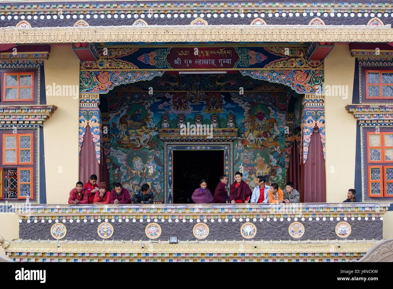 Nepal, Bodnath, Stupa, visitor, - Stock Image