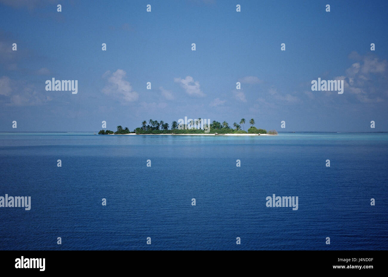 Sea, Maldives island, unoccupied, - Stock Image