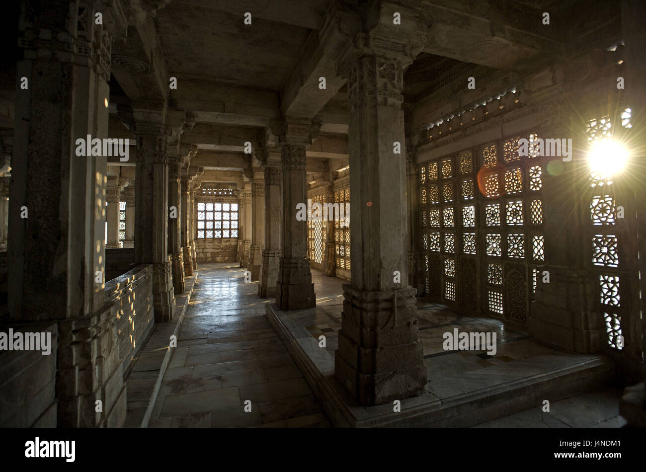 India, Gujarat, Ahmedabad, Sarkhej, mausoleum of the sultan, - Stock Image