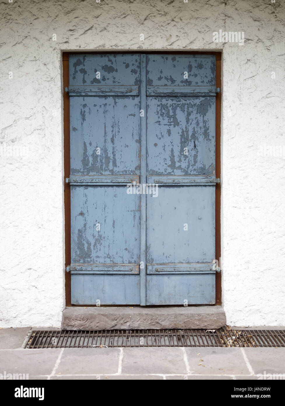 House, Door, Shutters, Closed, Outside