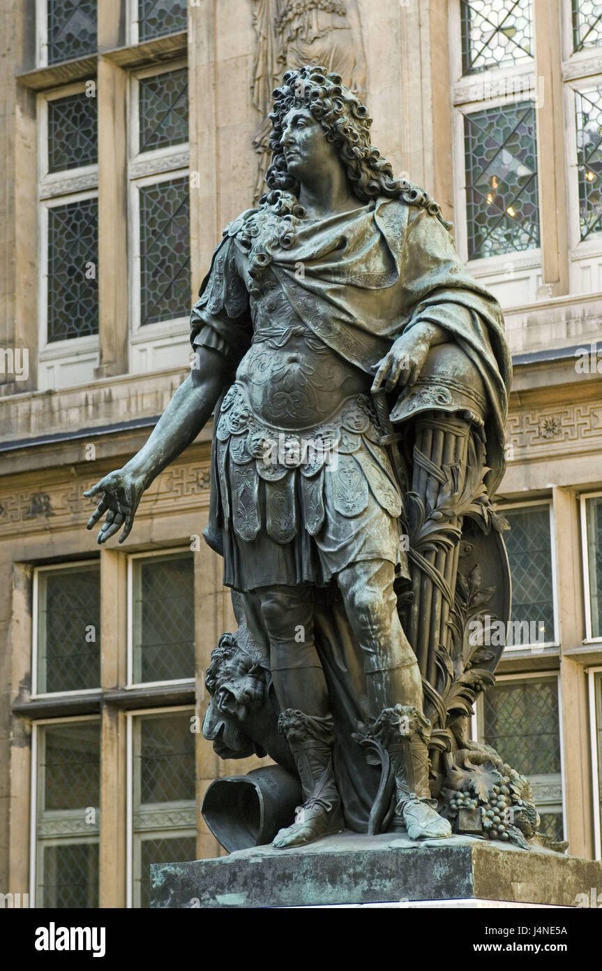 France, Paris, Musee Carnavalet, statue of Louis XIV, - Stock Image