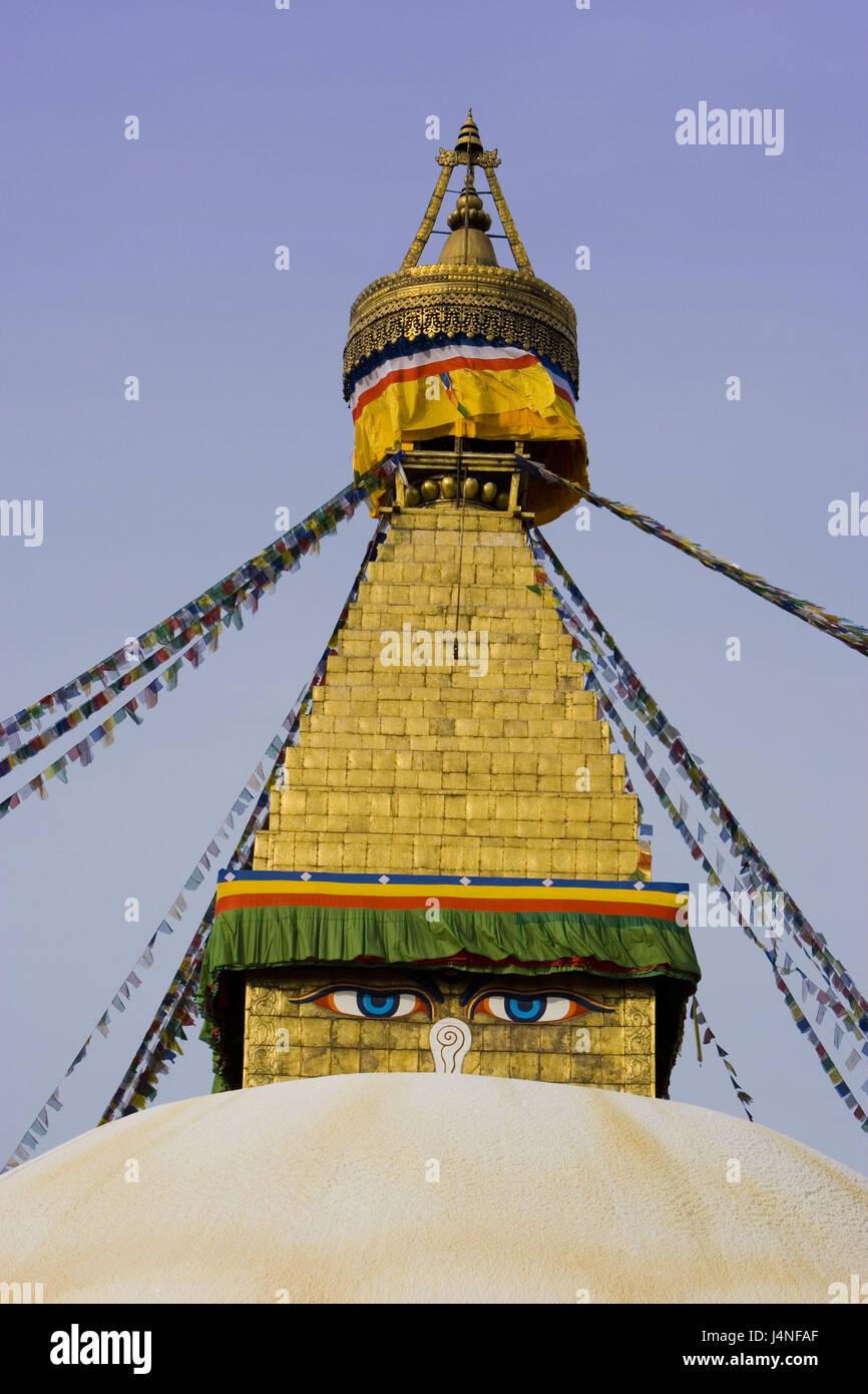 Nepal, Bodnath, Stupa, - Stock Image