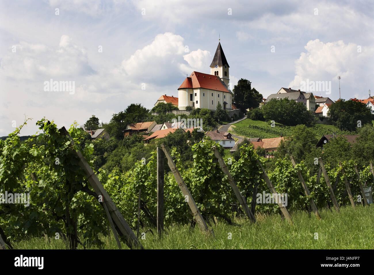 Austria Styria Saint Anna In The Aigen Hill Parish Church Place