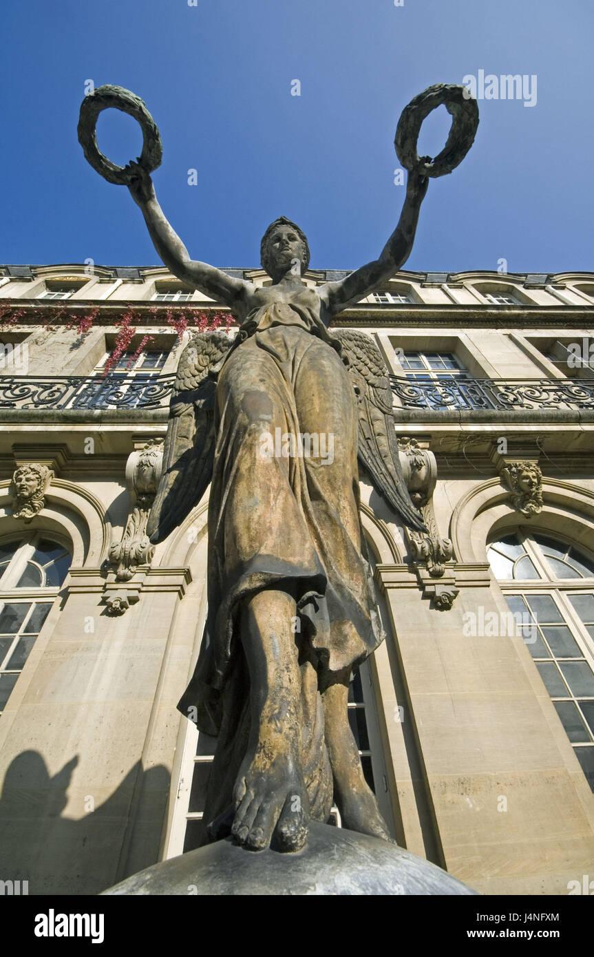 France, Paris, Musee Carnavalet, victory angel, - Stock Image