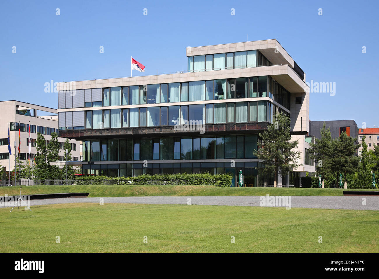 Germany, Berlin, ministerial gardens, Hessian land representative office with the bundle, - Stock Image