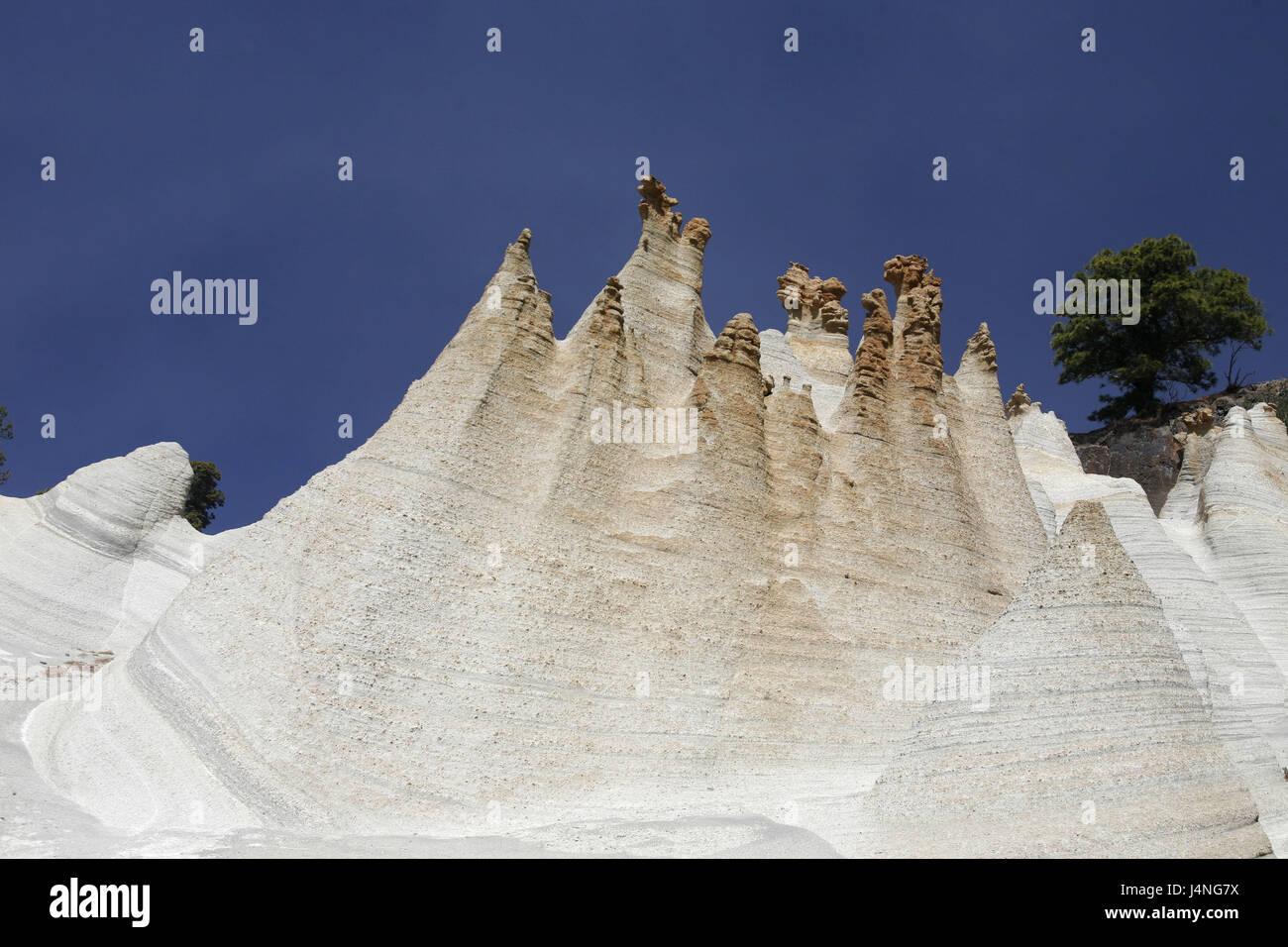 Spain, Tenerife, Paisaje Luar, tuff stone cone, - Stock Image