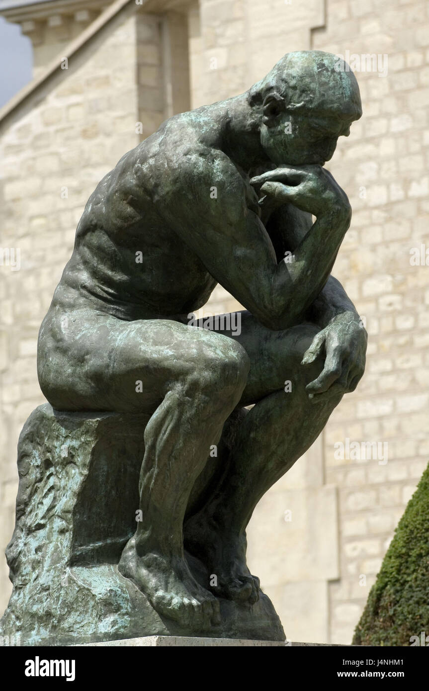 France, Paris, Musee Rodin, sculpture, 'of the thinkers', - Stock Image