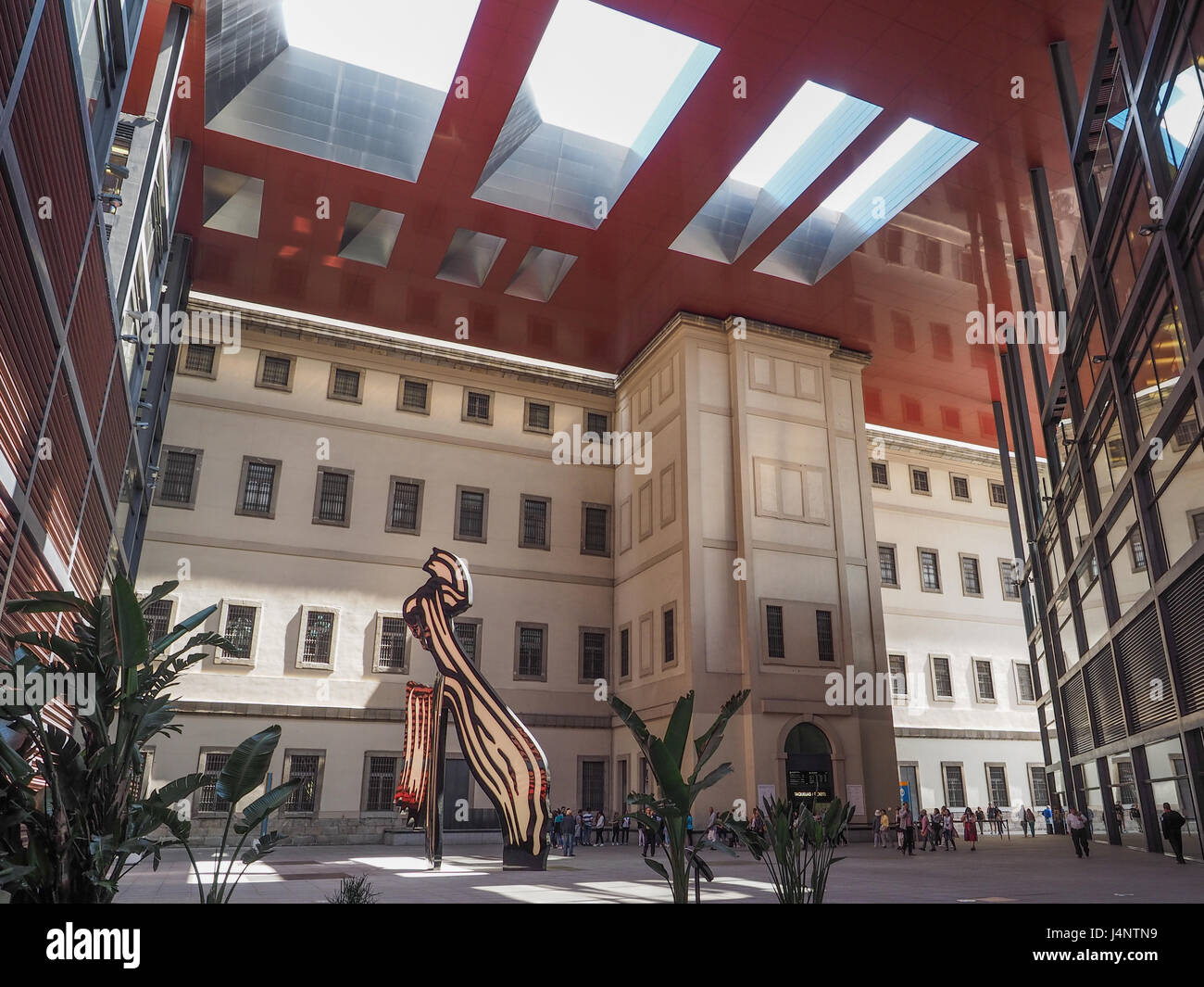 Museo Reina Sofia.A View Inside Museum Museo Reina Sofia Court Atrium Architecture