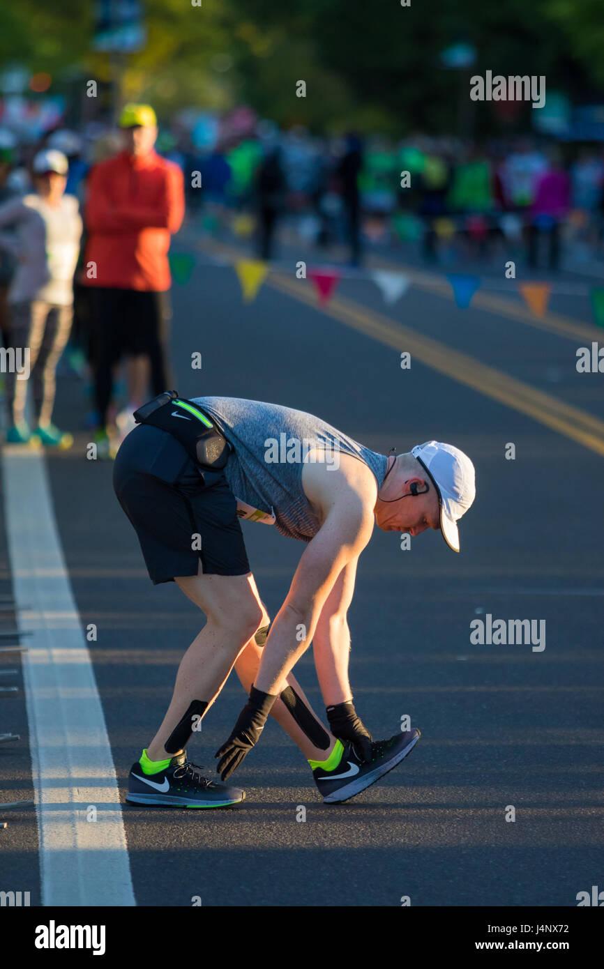 2017 Eugene Marathon Race - Stock Image