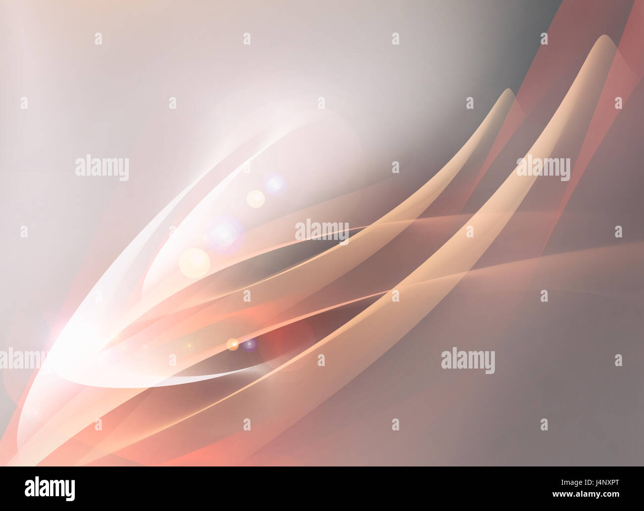 Minimalistic soft background with waves and soft light - Stock Image