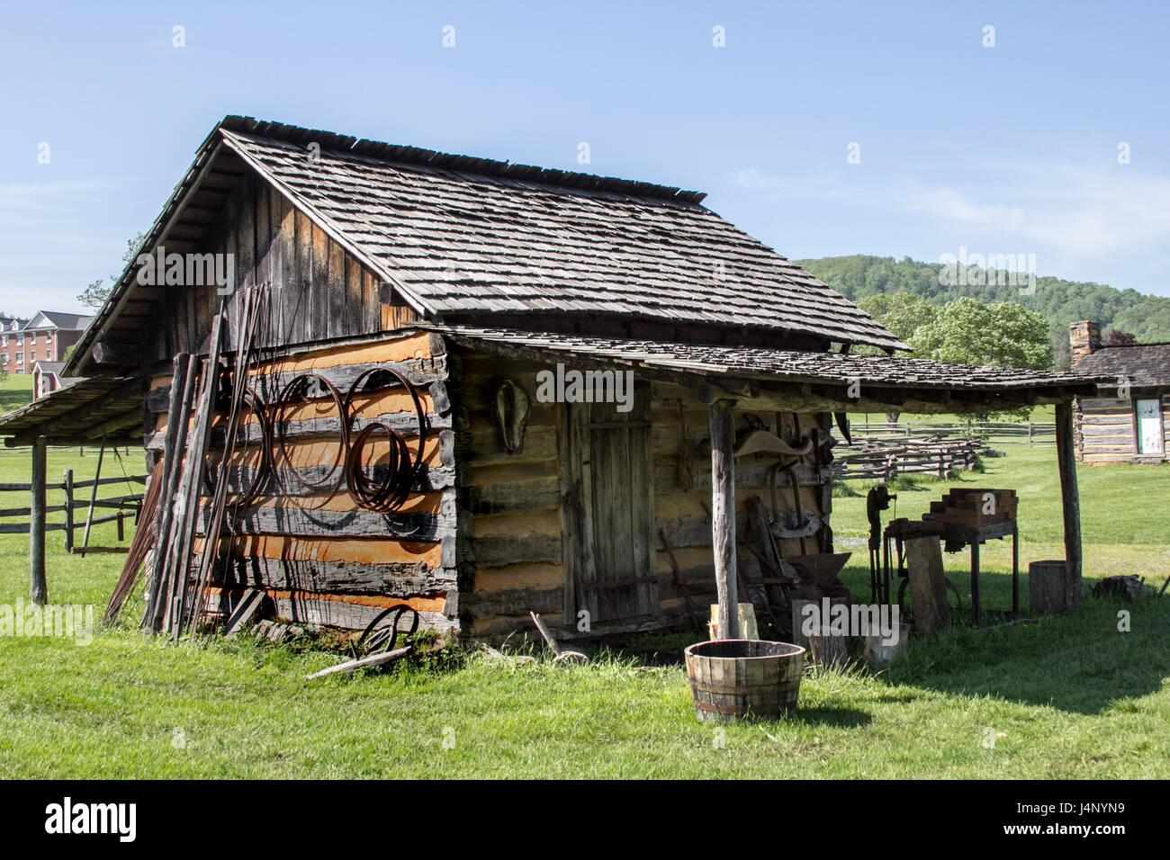 Blue Ridge Institute and Farm Museum, Virginia - Stock Image