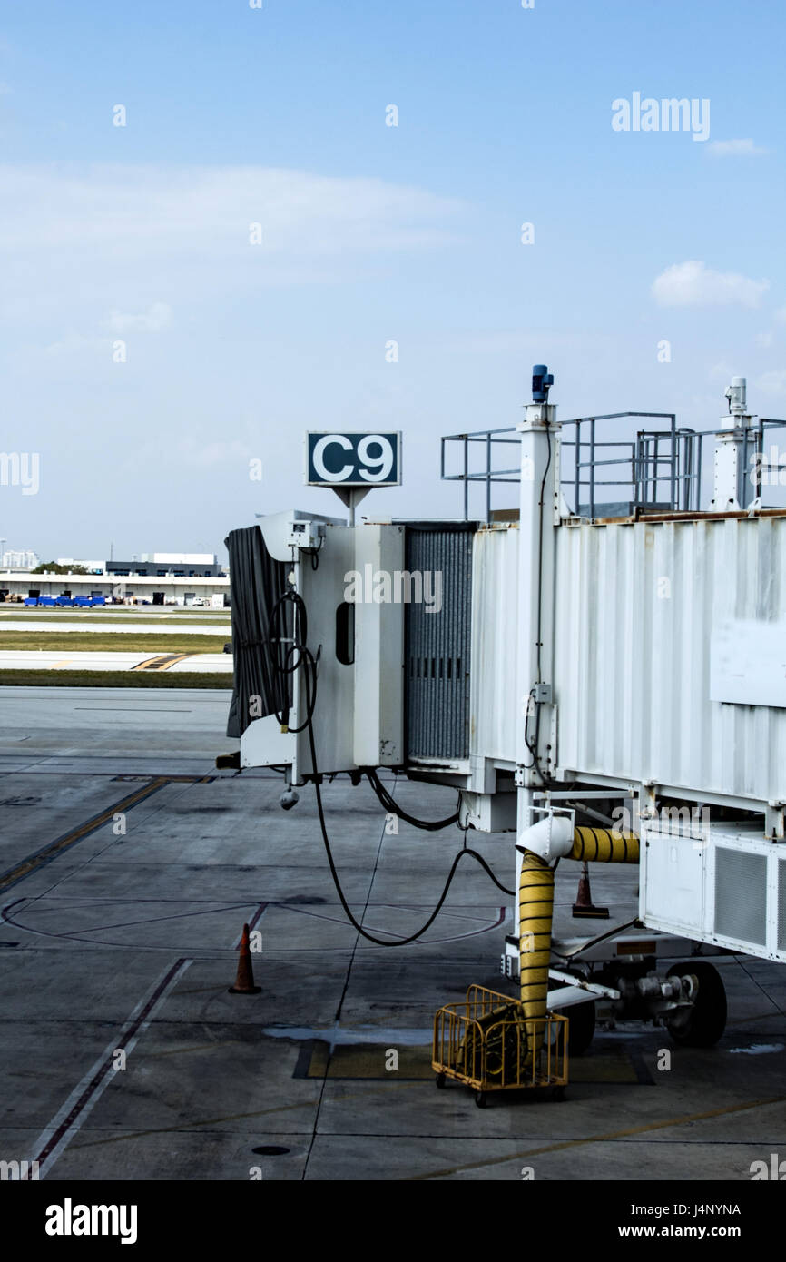airport gate - Stock Image