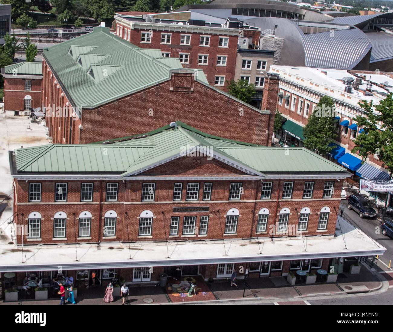 Roanoke City Market - Stock Image
