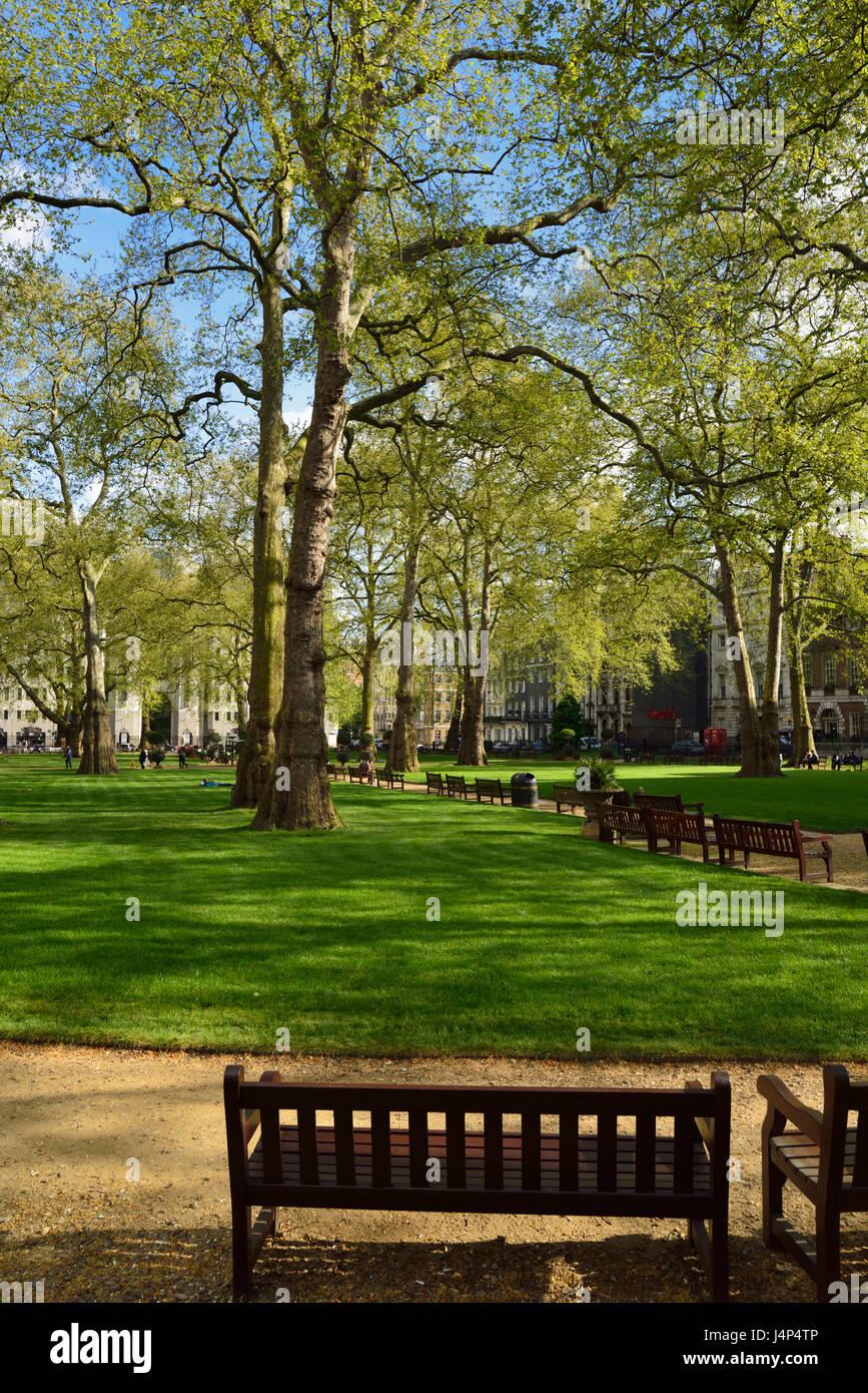 Berkeley Square, Mayfair, West London, United Kingdom - Stock Image