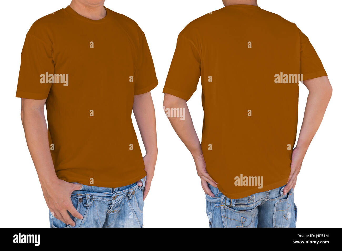f46abd61cfb Blank T Shirt Template Front Back Cut Out Stock Images   Pictures ...