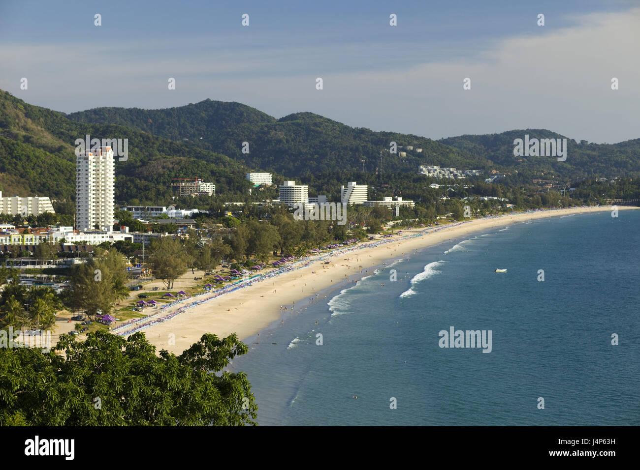 Thailand, Phuket, Karon Beach, overview, - Stock Image