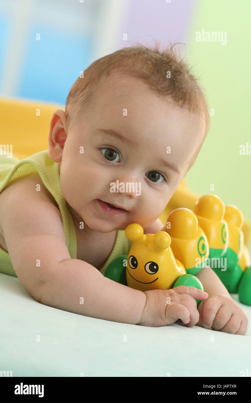 Baby 4 Months Lie Portrait Toys Model Released People Child
