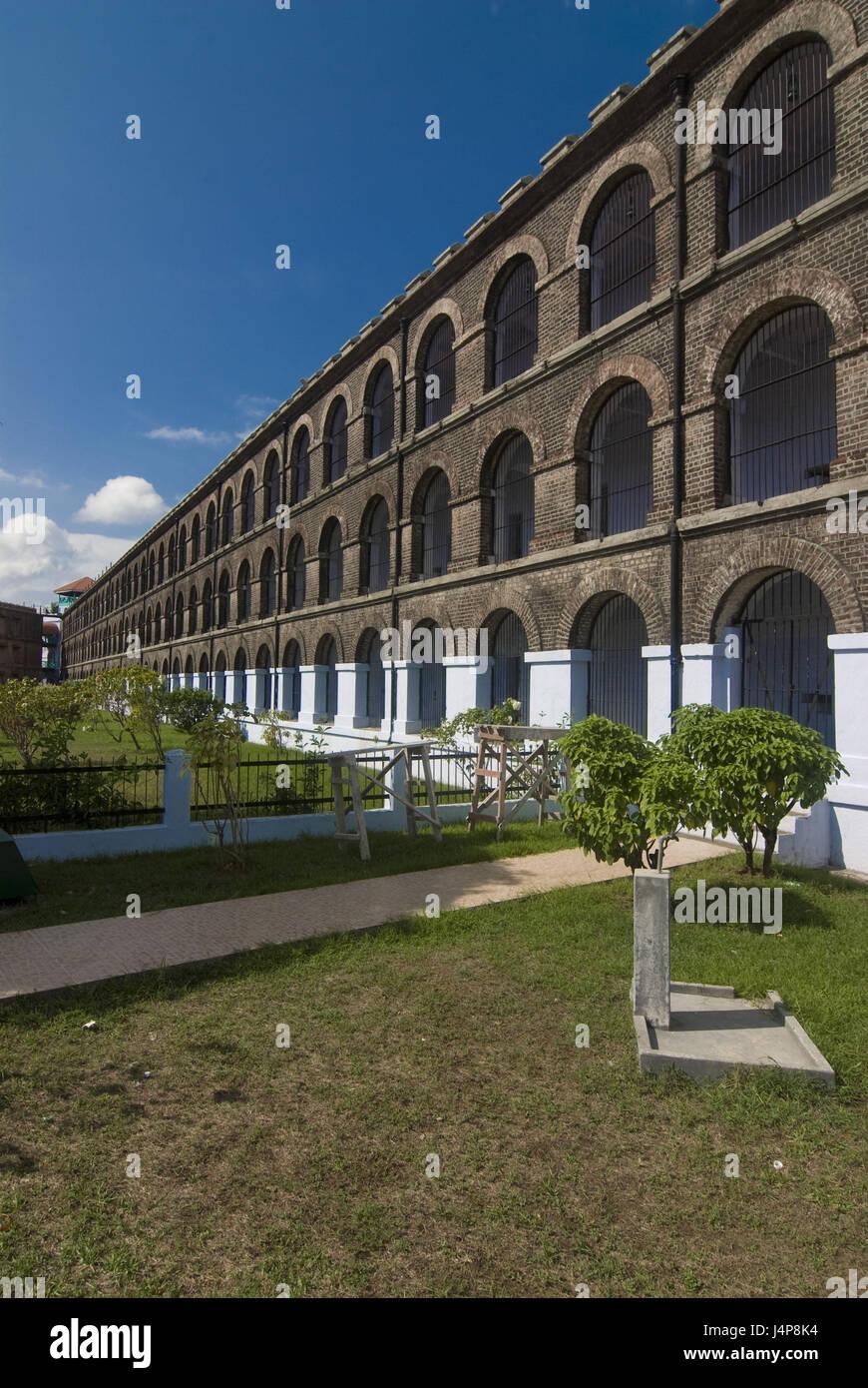 Prison, port Blair, Andamanen, India, garden, - Stock Image