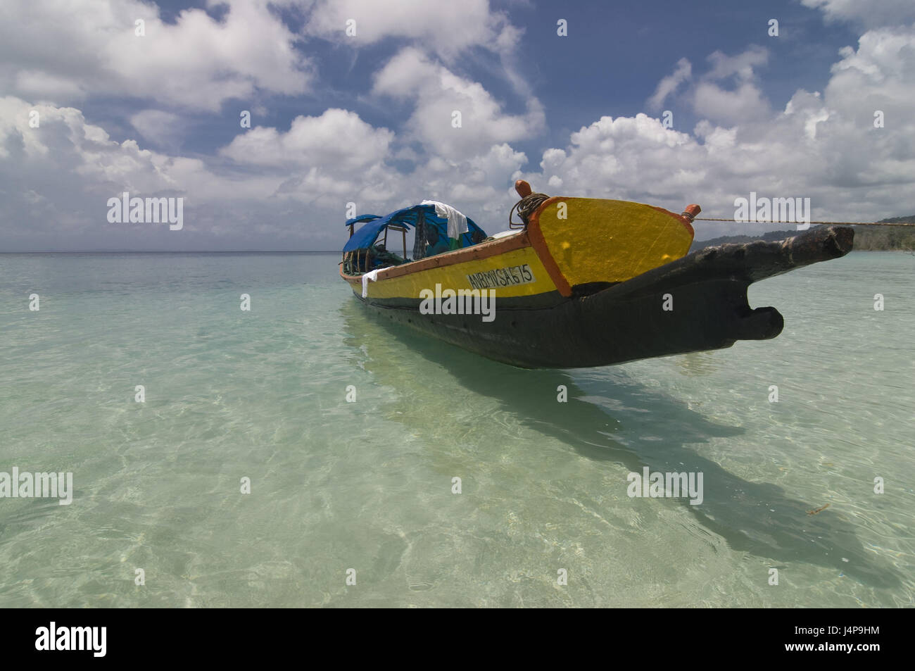 Boot, coast, Indian ocean, Havelock Insel, Andamanen, India, - Stock Image