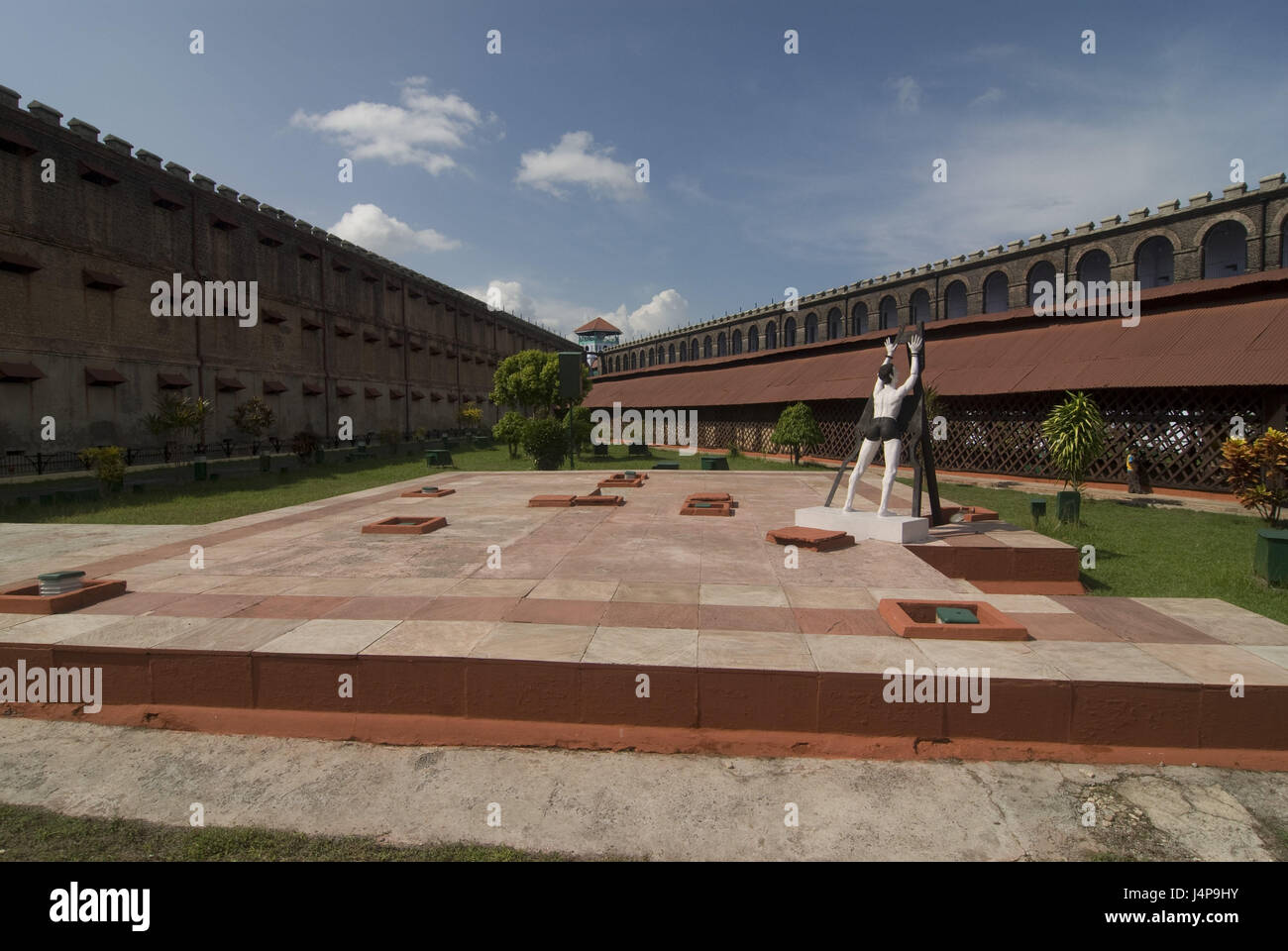 Prison, port Blair, Andamanen, India, garden, sculpture, - Stock Image