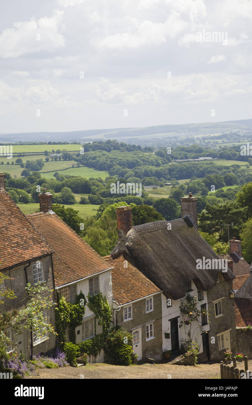 Great Britain, England, Dorset, Shaftesbury, gold Hill, - Stock Image