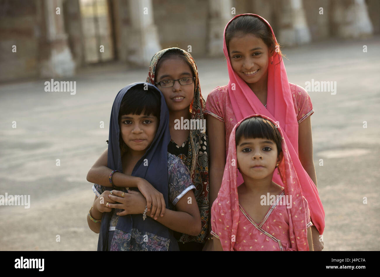 India, Gujarat, Ahmedabad, Sarkhej, young persons, - Stock Image