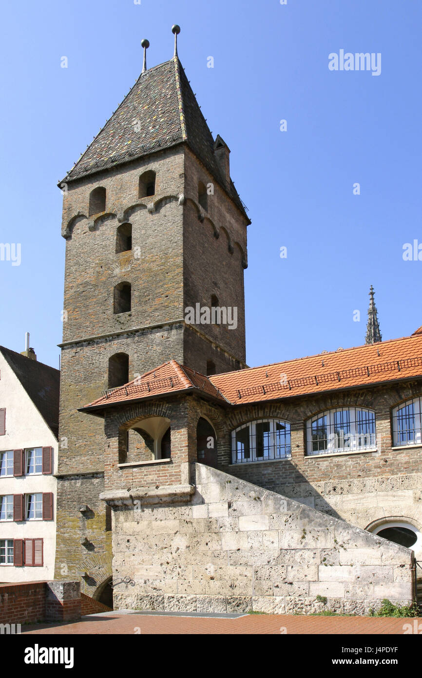 Germany, Ulm, oblique tower, - Stock Image