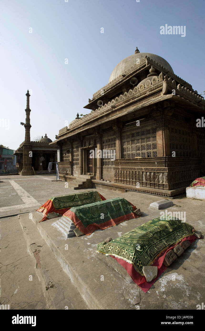 India, Gujarat, Ahmedabad, mosque, tomb, rani Sipri, - Stock Image