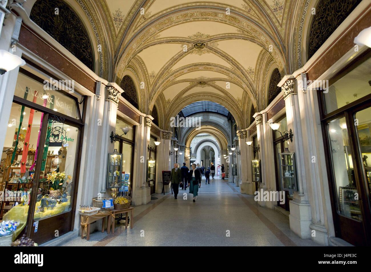 Austria, Vienna, palace of Ferstel, Freyung, - Stock Image