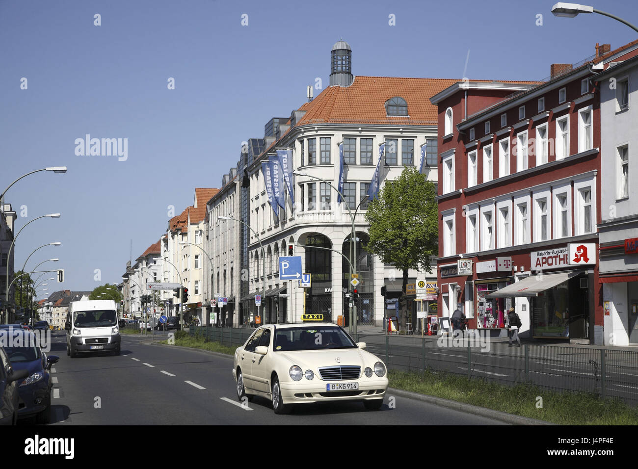 Germany, Berlin, Tempelhofer embankment, street scene, - Stock Image