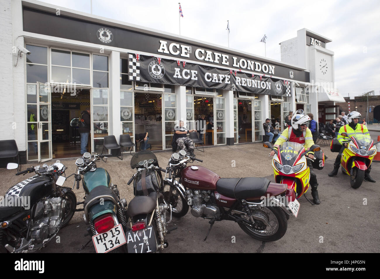 Great Britain, England, London, Ace cafe, Reunion, motorcycles, - Stock Image