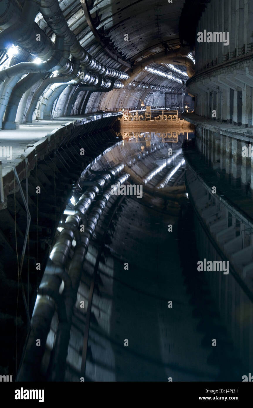 Submarine bunker, Balaklawa, the Crimea, nuclear-bombproof, submarine base, secretly, the military, Stock Photo