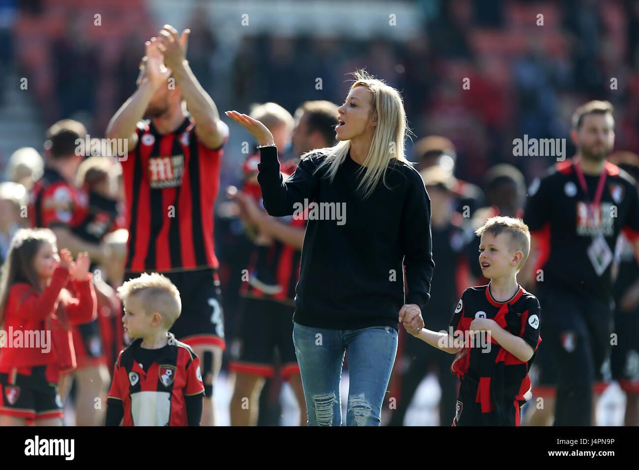 Afc Bournemouth Manager Eddie Howe S Wife Vicky Howe Celebrates On Stock Photo Alamy