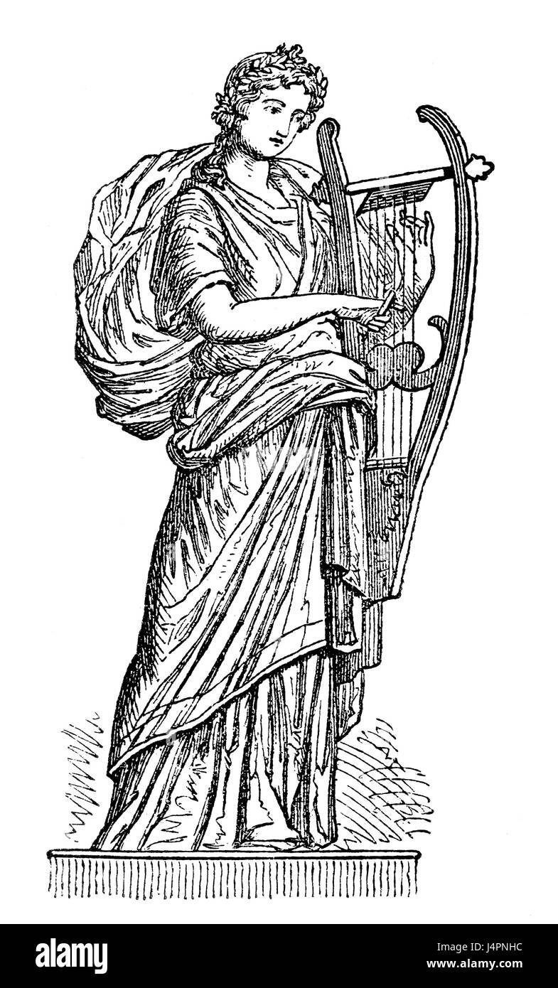 Erato, the muse of lyric poetry in Greek mythology - Stock Image