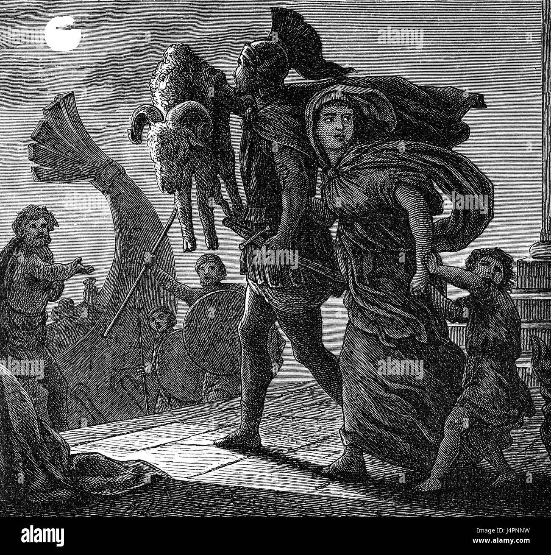 Jason and Medea or Medeia, Greek mythology - Stock Image