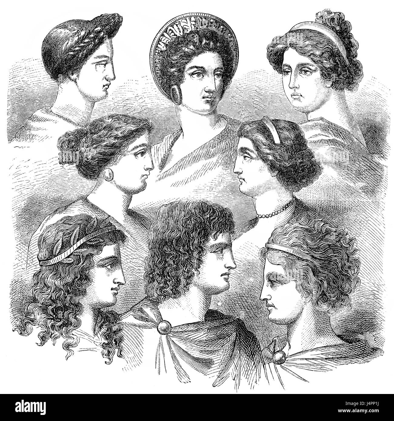 Traditional hairstyles in ancient Greece Stock Photo  140641806 - Alamy f50446d1060