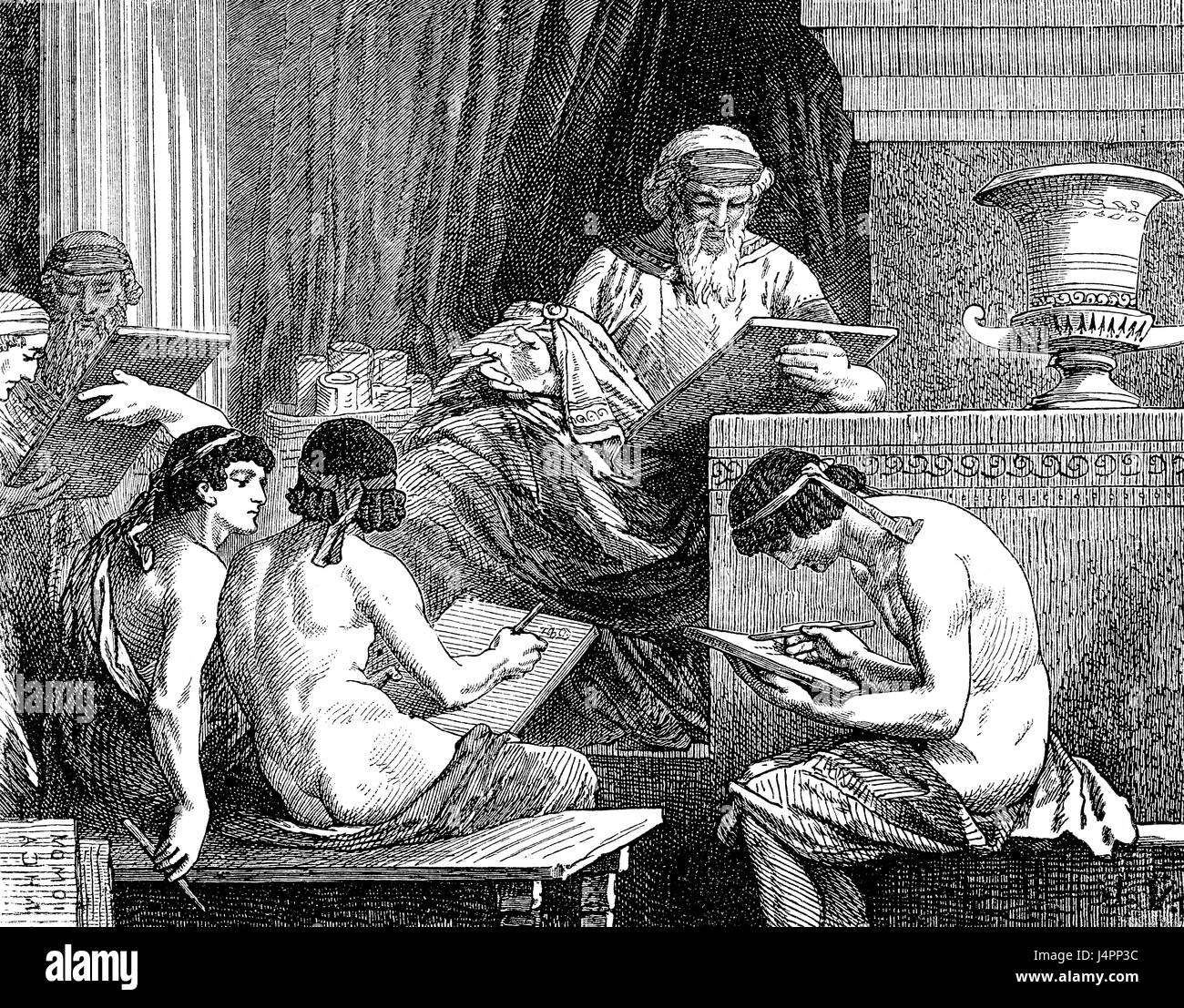Solon, c. 638-c. 558 BC, an Athenian statesman, lawmaker, and poet, Ancient Greece - Stock Image