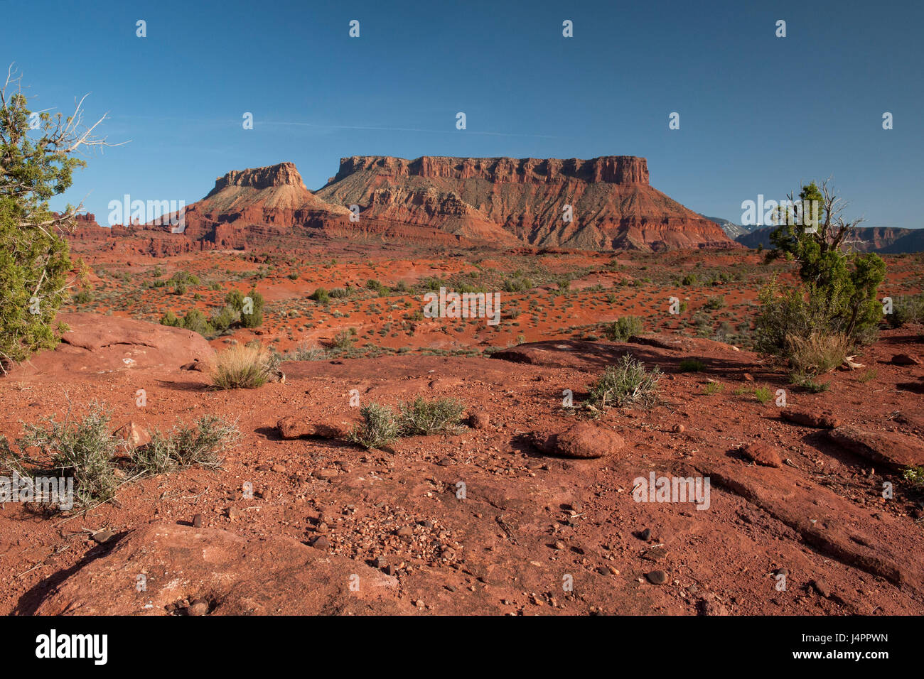 Fisher Mesa, about 20 miles east of Moab, Utah. - Stock Image