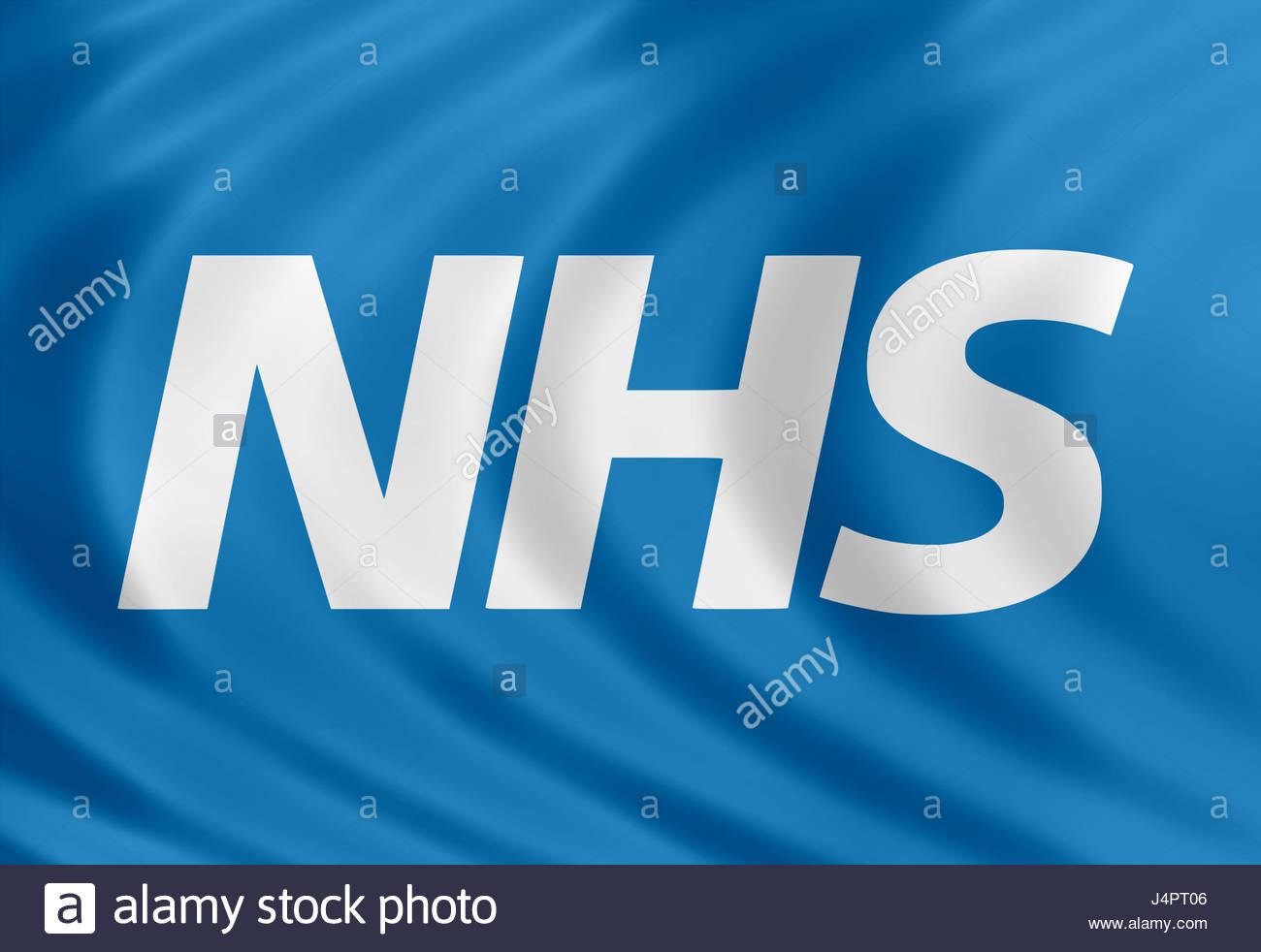 NHS logo icon flag - Stock Image