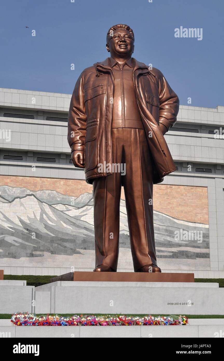 Mansudae Grand  Monument - Kim Jong-il - Stock Image