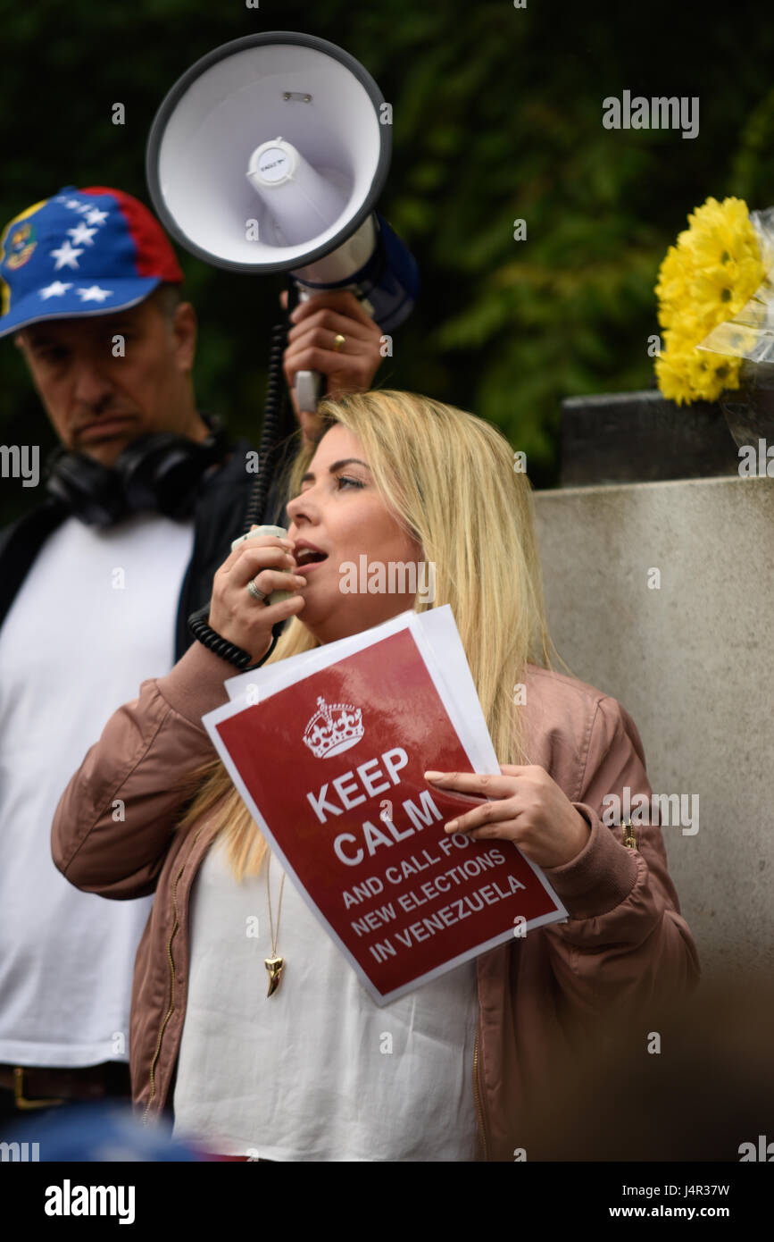 A protest took place in Belgrave Square against the actions of the government in Venezuela which has seen over 40 - Stock Image
