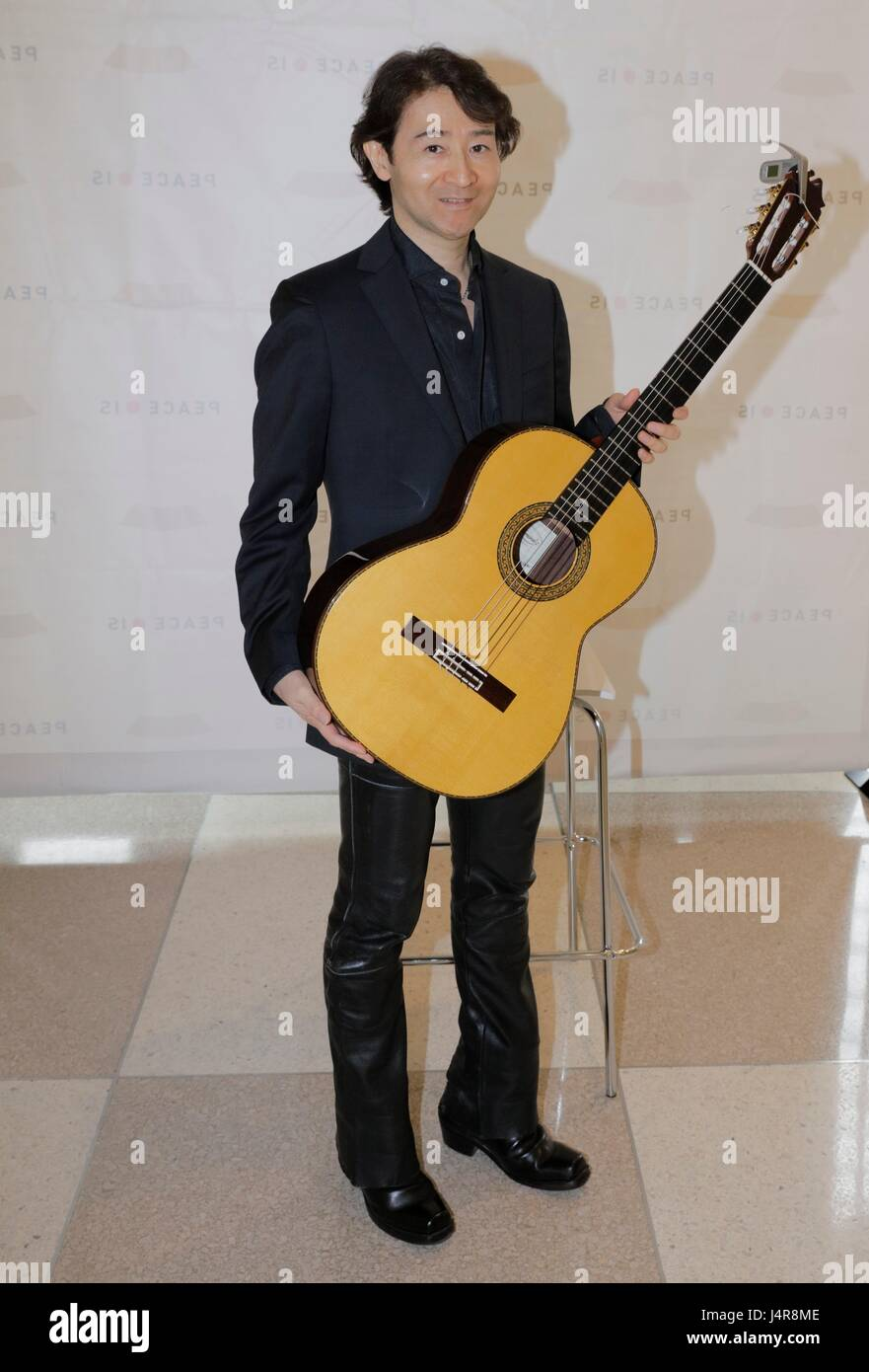 United Nations, New York, USA, May 12 2017 - PEACE IS a Concert by Shiro Otake honoring Argentina guitar player - Stock Image