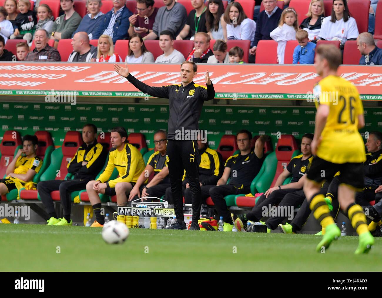 13.05.2017, Fussball 1.Bundesliga 2016/2017, 33.Spieltag, FC Augsburg - Borussia Dortmund, in der WWK-Arena Augsburg. Stock Photo