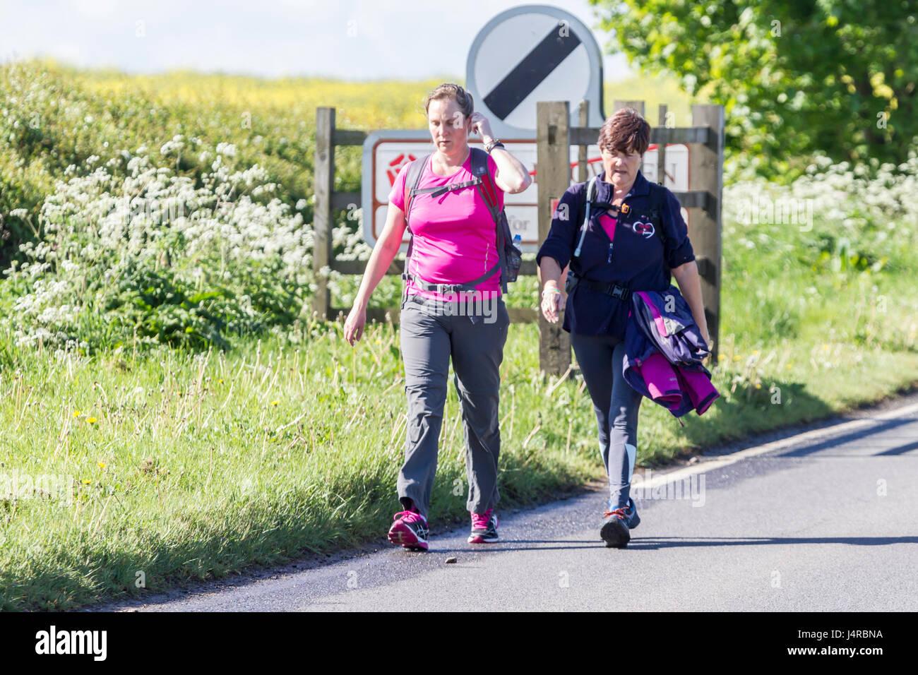 Wellingborough, Northamptonshire, U.K. 14th May 2017. The 38th International Waendel walk. Participant have travelled - Stock Image