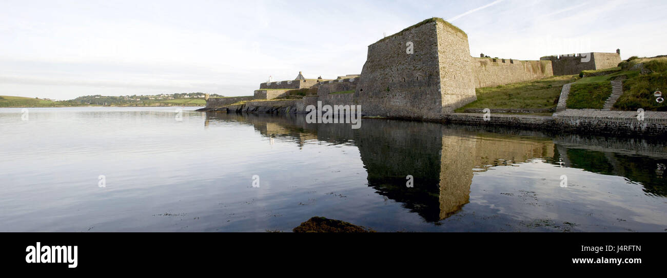 Ireland, Munster, Cork county, Kinsale, Charles Fort, Stock Photo